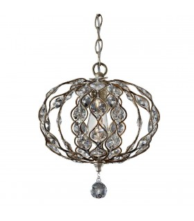 1 Light Ceiling Pendant Polished Silver