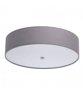 LED Flush Ceiling Light with Grey Shade and White Diffuser