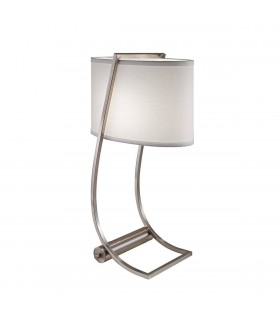 1 Light Table Lamp Brushed Steel