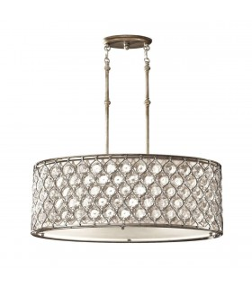 3 Light Ceiling Cylindrical Pendant Polished Silver