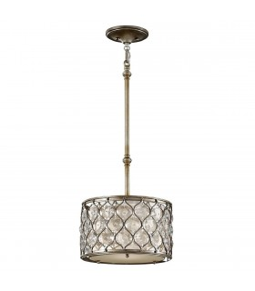 1 Light Ceiling Cylindrical Pendant Polished Silver, E27