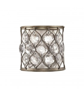 1 Light Indoor Wall Light Burnished Silver