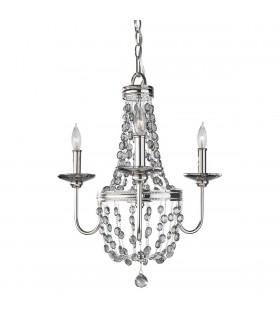Chandelier 3 Light Polished Nickel Finish