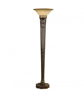 Opera Gold & Amber Floor Lamp Uplighter - Elstead Lighting FE/OPERA TCH