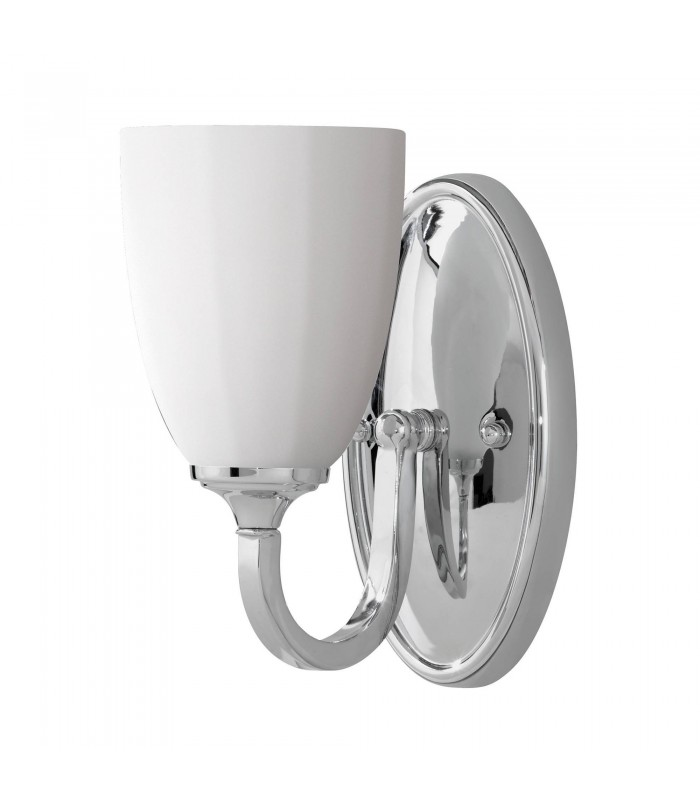 1 Light Indoor Candle Wall Light Polished Chrome IP44, G9