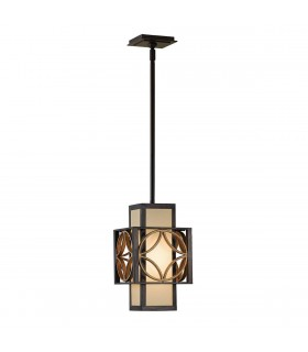 1 Light Ceiling Pendant Gold, Bronze