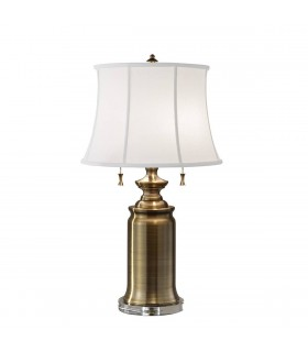 2 Light Table Lamp Bali Brass