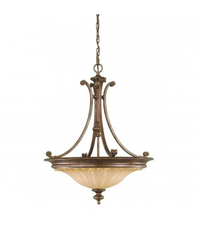 3 Light Ceiling Chandelier Pendant Light British Bronze