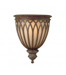 1 Light Indoor Wall Light British Bronze