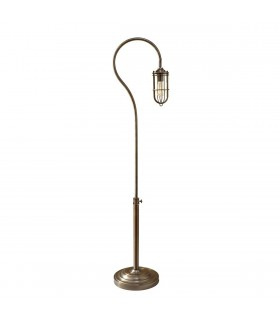 1 Light Floor Lamp Antique Brass