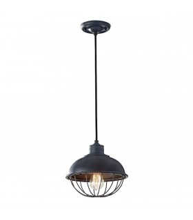Urban Renewal Antique Iron Ceiling Pendant - Elstead Lighting FE/URBANRWL/P/B