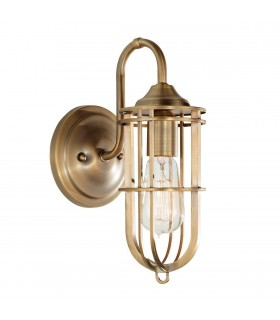 1 Light Indoor Wall Light Dark Antique Brass