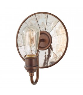 1 Light Indoor Wall Light Bronze, E27