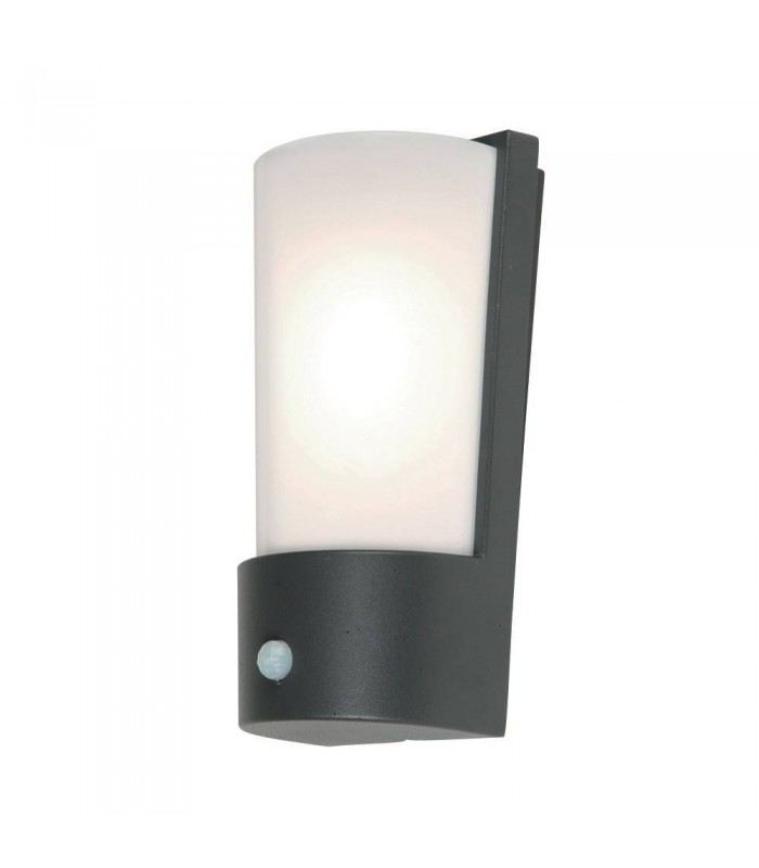 1 Light Lantern Light Dark Grey with PIR Motion Sensor IP44