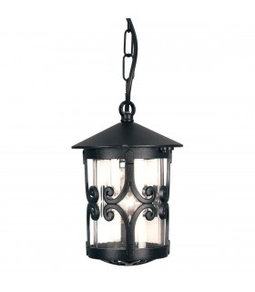 LED 1 Light Outdoor Ceiling Lantern Black