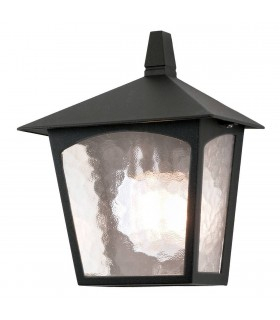 1 Light Outdoor Flush Ceiling Lantern Black