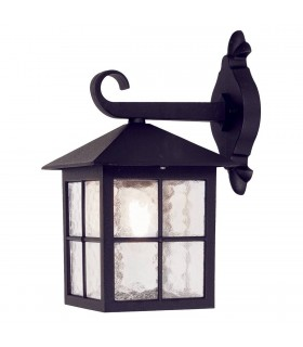 Winchester Black 33.5cm Outdoor Wall Down Lantern - Elstead Lighting BL18 BLACK