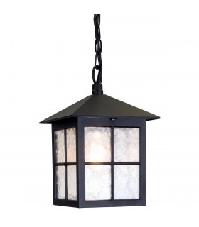 1 Light Outdoor Ceiling Chain Lantern Black IP43