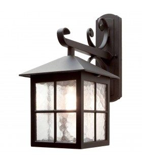 Winchester Black 40cm Outdoor Wall Down Lantern - Elstead Lighting BL19 BLACK
