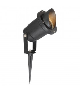 Black Outdoor Led Spotlight On Spike With Cap