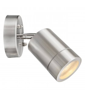 1 Light Outdoor Wall Light White, Matt Chrome IP65