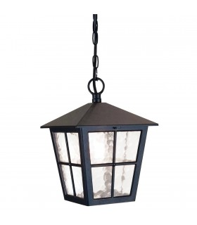 1 Light Outdoor Wall Lantern Light Black IP43