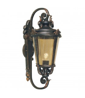 1 Light Outdoor Large Wall Lantern Light Weathered Bronze IP44, E27