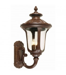 4 Light Outdoor Large Wall Lantern Light Rusty Bronze Patina IP44, E14