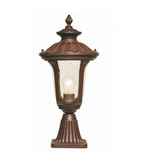 Chicago Pedestal Lantern Small - Elstead Lighting