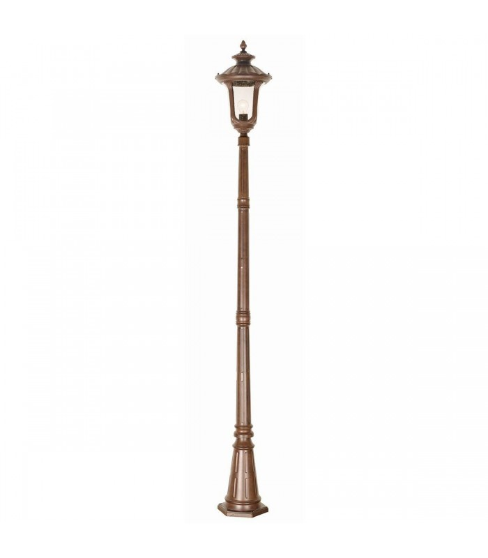 1 Light Medium Outdoor Lamp Post Rusty Bronze Patina IP44, E27