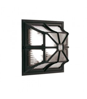 1 Light Outdoor Flush Ceiling Lantern Black IP44, E27