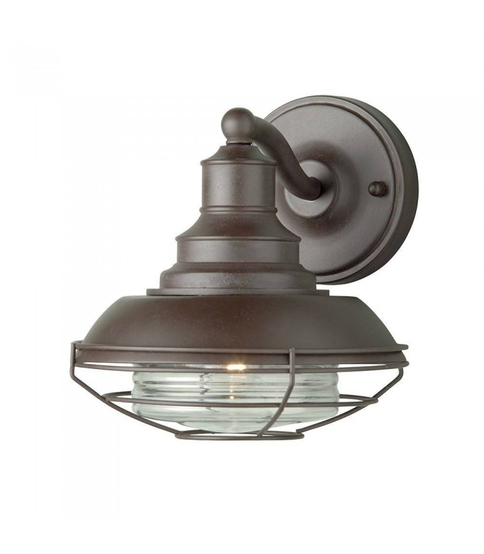 1 Light Outdoor Wall Lantern Light Old Bronze IP43, E27