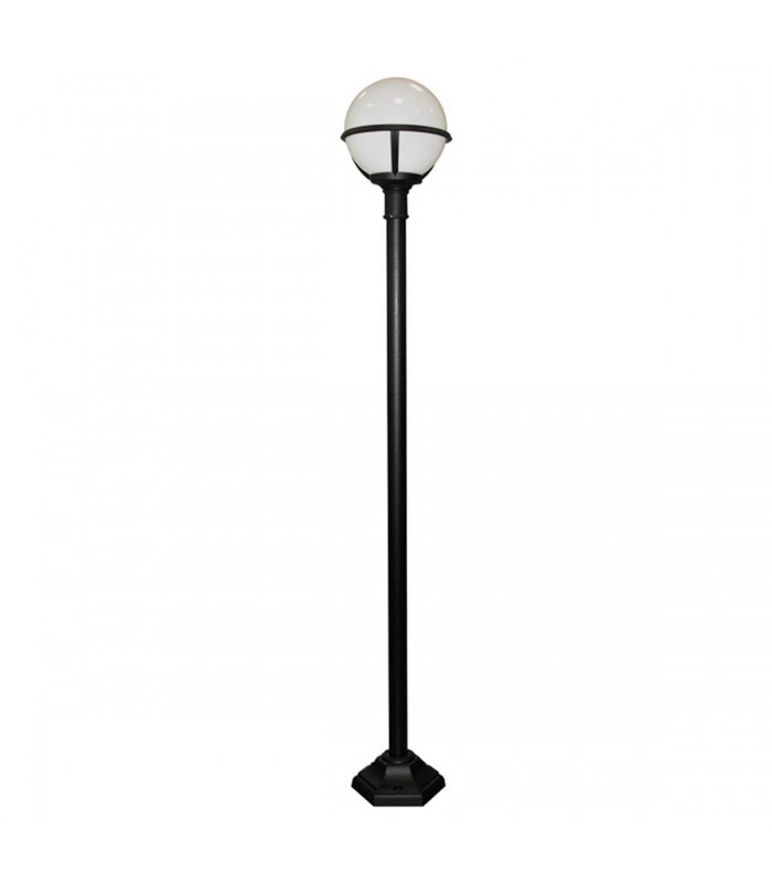 1 Light Outdoor Lamp Post Black IP44, E27