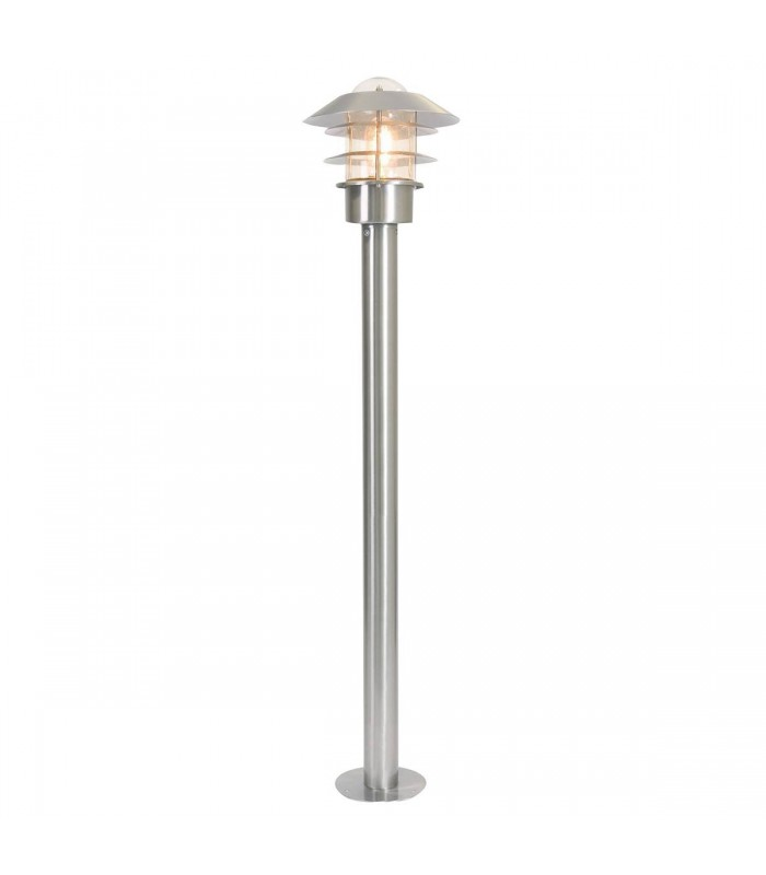 1 Light Outdoor Bollard Light Stainless Steel IP44, E27