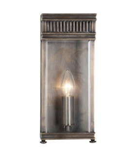 1 Light Outdoor Small Wall Half Lantern Light Dark Bronze IP44, E14