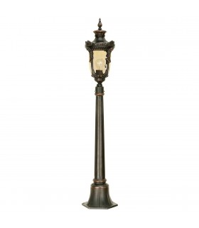 1 Light Medium Outdoor Bollard Lantern Old Bronze IP44