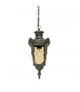 1 Light Medium Outdoor Ceiling Chain Lantern Old Bronze IP44