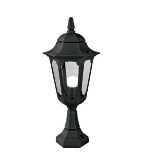 Parish Pedestal Lantern Black - Elstead Lighting