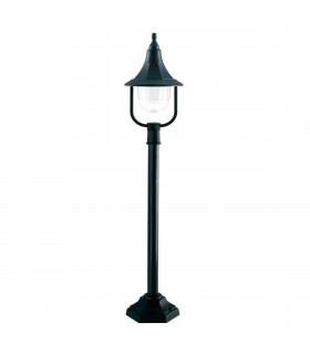 1 Light Outdoor Pillar Lamp Black Polycarbonate IP44