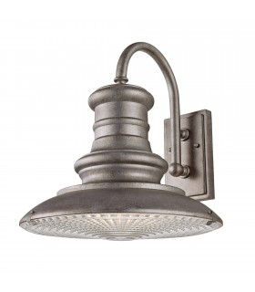 1 Light Outdoor Large Dome Wall Lantern Light Tarnished IP44, E27