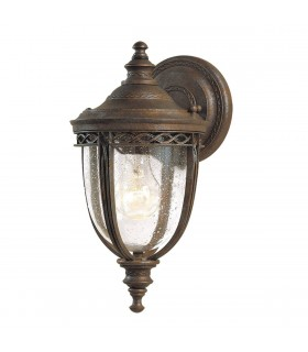 1 Light Outdoor Small Wall Lantern Light British Bronze IP44, E27