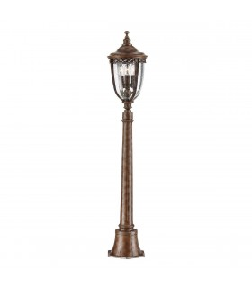 3 Light Medium Outdoor Bollard Light British Bronze IP44
