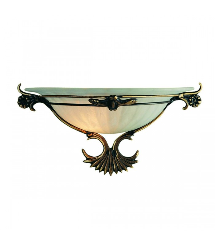 ANTIQUE BRASS GLASS WALL WASHER - Searchlight 3004