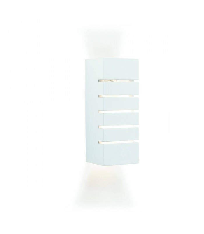 WHITE RECTANGLE PLASTER WALL LIGHT - Searchlight 4274