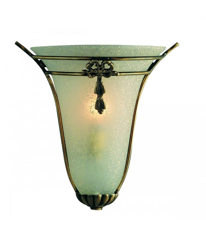 1 Light Indoor Half Wall Washer Light Bronze with Frosted Scavo Glass, E14