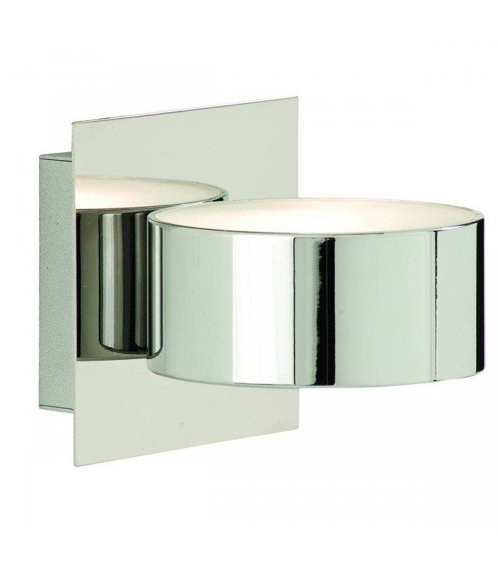 Chrome Circular Wall Light with Glass Diffuser - Searchlight 2691CC