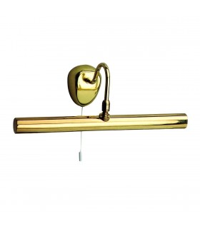 2 Light Picture Wall Light Polished Brass