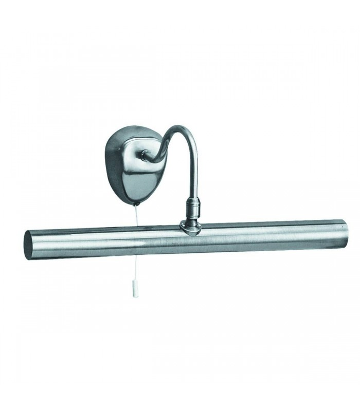 2 Light Picture Wall Light Satin Silver