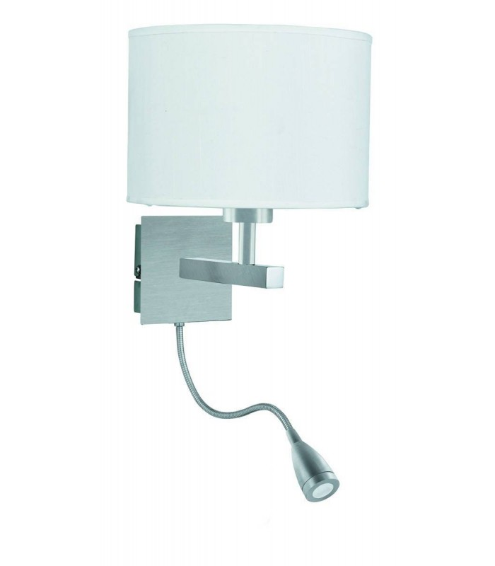 Dual Flexi Arm 1 Light Indoor Wall Light Satin Silver, E27