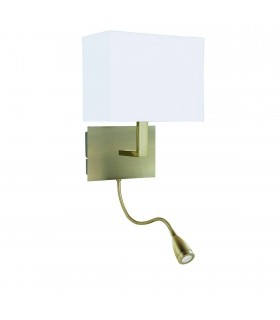LED 1 Light Flexible Indoor Wall Light Antique Brass